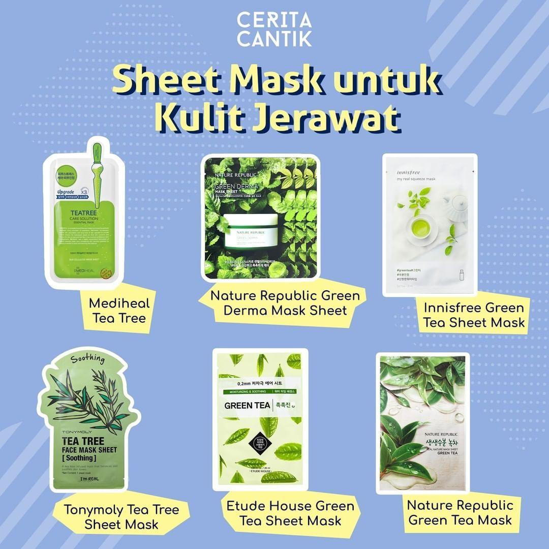 Masker Sheet Untuk Kulit Kering Dan Berjerawat