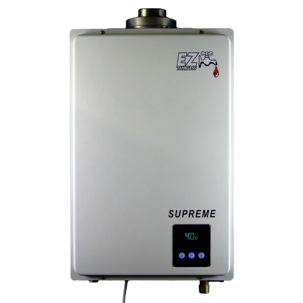 Pros and cons of gas tankless water heaters - Ez Tankless Supreme On Demand 8 2 Gpm 165 000 Btu Natural Gas Tankless Water Heater Ezsupng