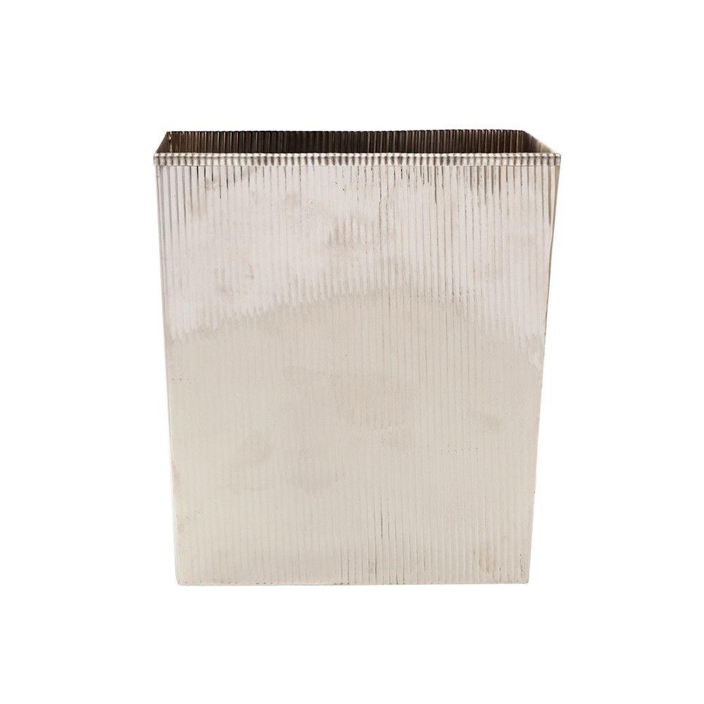 Discover the Pigeon & Poodle Redon Rectangular Waste Basket - Shiny Nickel at Amara