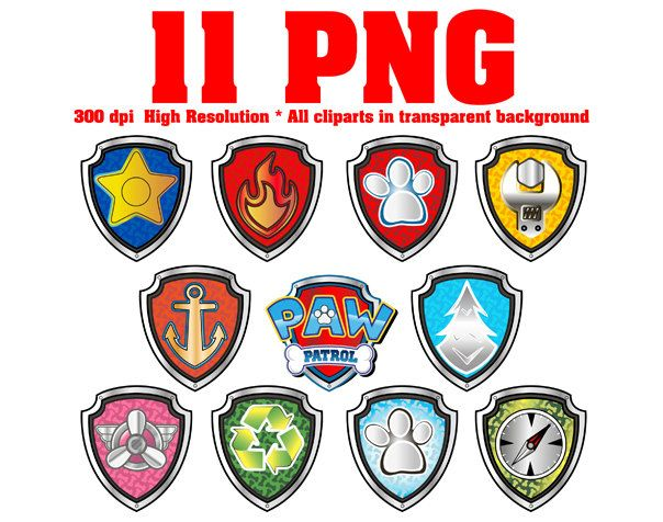 11 Png Paw Patrol Clipart 300 Dpi All Badges Marshall Skye Ryder Rocky Zuma Everest Tracker Apollo The Super Pup By Bestforkidsdesi Cumple Cumpleanos