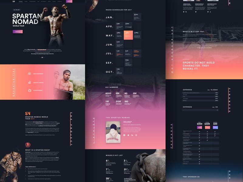 Spartan Nomad Web Layout Design Web Design Examples Web Design Inspiration