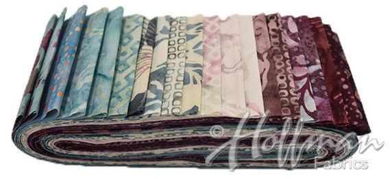 Hoffman Fabrics Rose Quartz Bali Poppy Twenty Different 2.5 inch Batik Strips BPP-233-Rose-Quartz