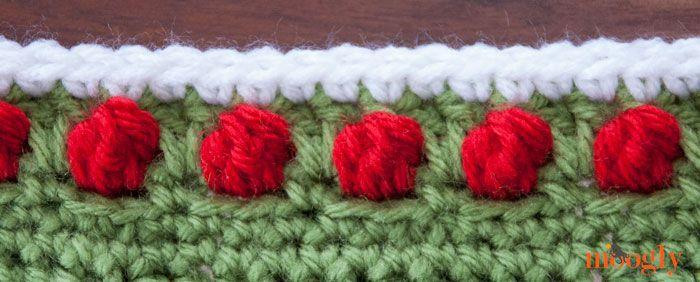 Free Crochet Pattern Polka Dot Border Edging Crochet