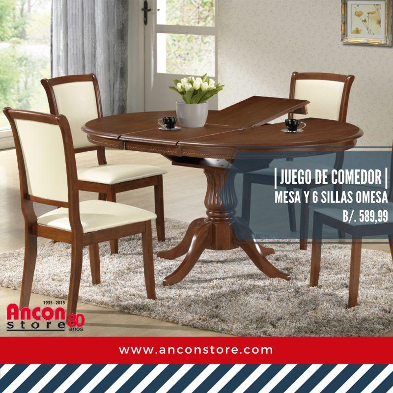 Práctico y elegante juego de comedor #comedores #sillas #panama ...