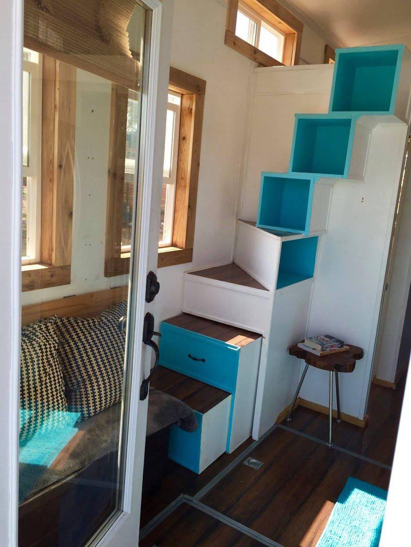 Tiny House Stairs, Tiny House Bedroom
