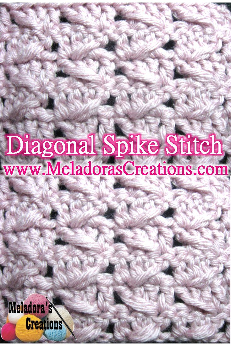 Here you can Learn how to Crochet with the Diagonal Spike Stitch. By ...