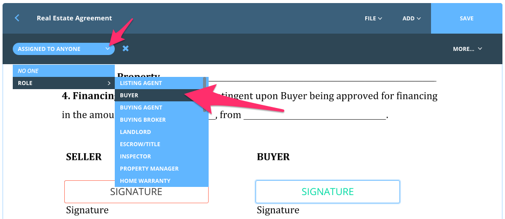 How to create interactive documents – dotloop support