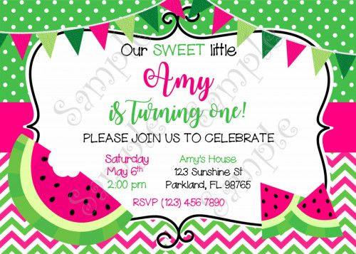 watermelon invitation, watermelon birthday invitation watermelon, Birthday invitations