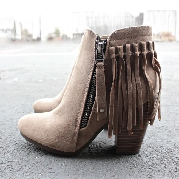 boho fringe ankle booties - shophearts - 1