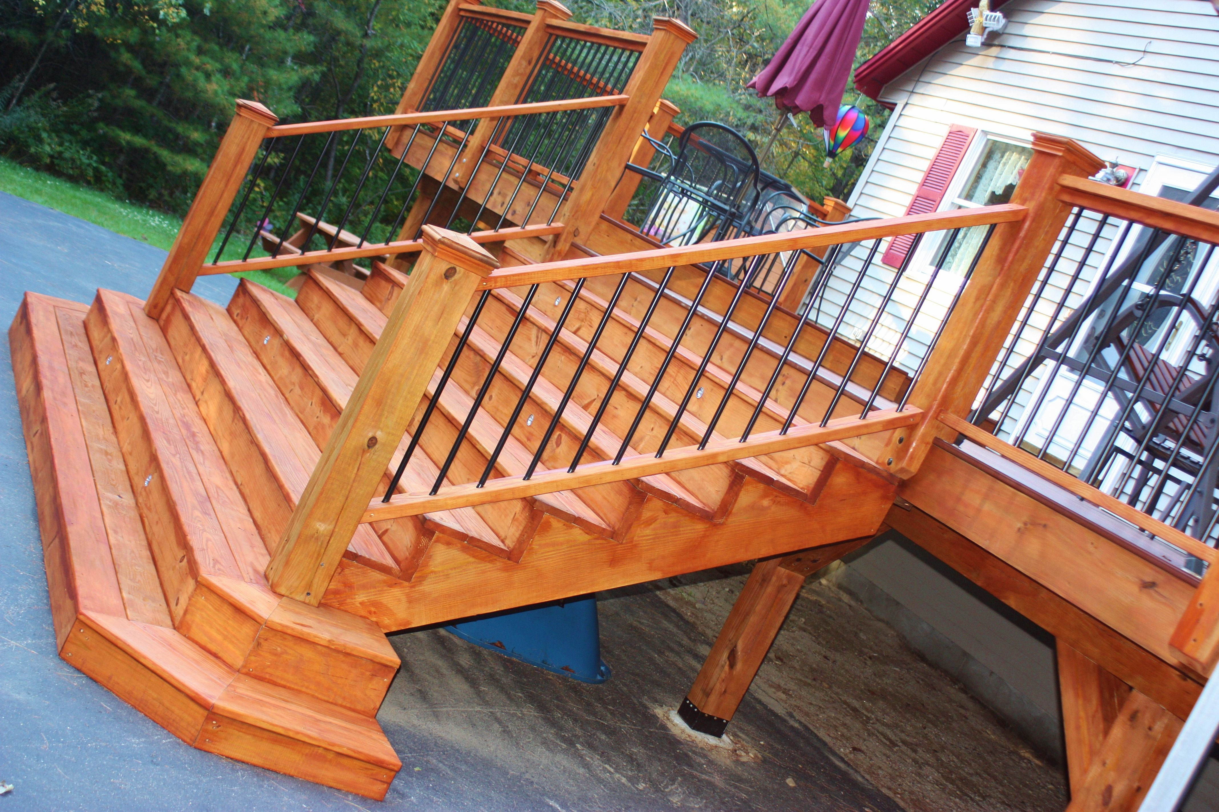 Porches decks patios delta c construction inc -  New Deck With One Coat Of Cabot S Australian Timer Oil Mahogany Flame