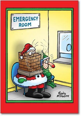 Merry Xmas Cartoon Pics : merry, cartoon, Santa, Stuck, Funny, Christmas, Cartoons,, Humor,, Jokes