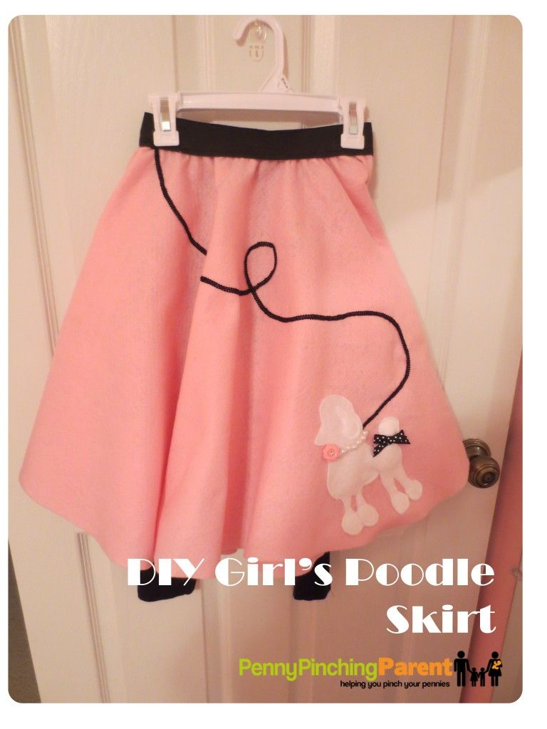 Diypoodleskirt Homemade Kids Costumes Pinterest Poodle Skirts