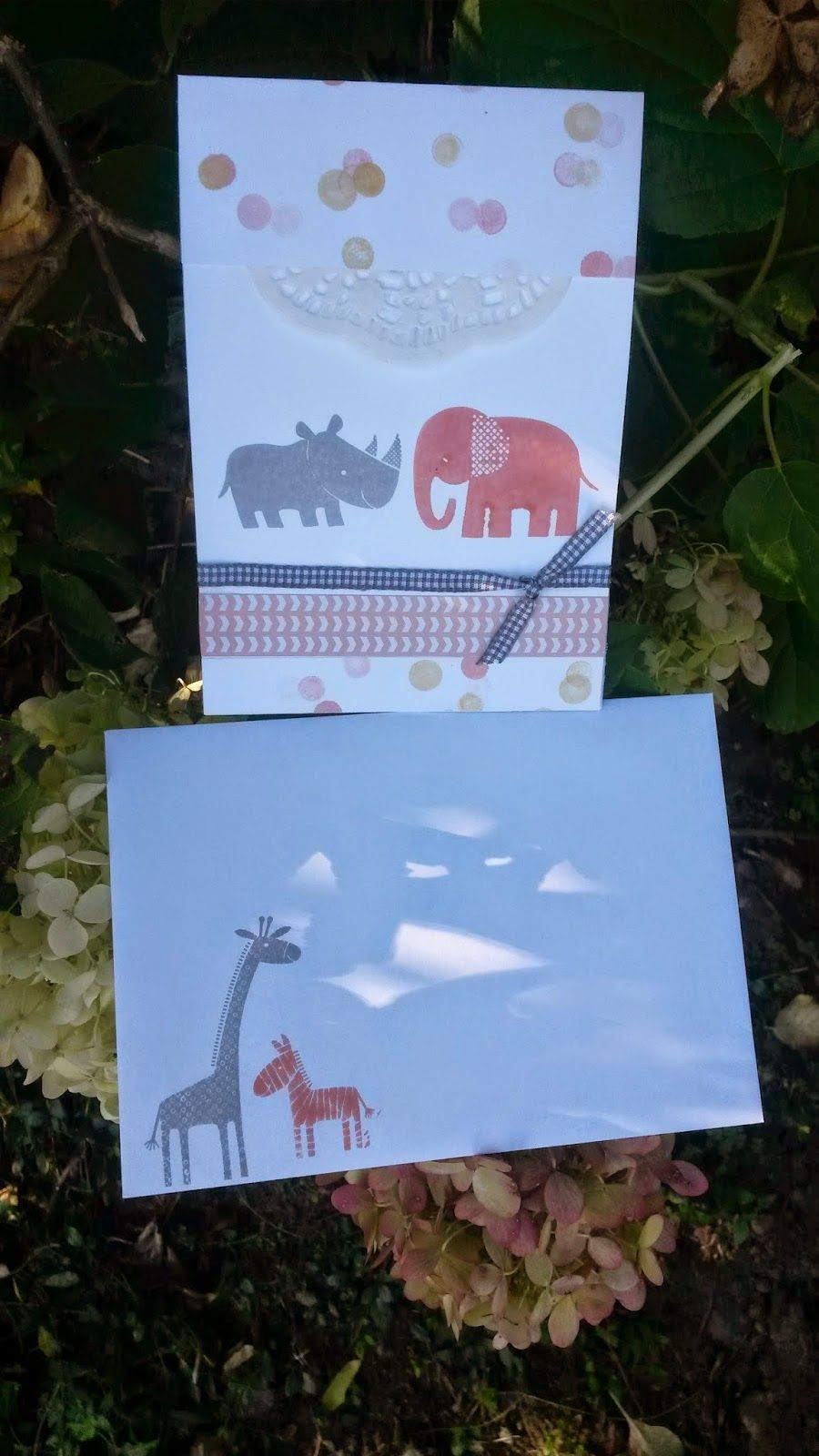 Freubelparadijs Stampin' Up! babykaart
