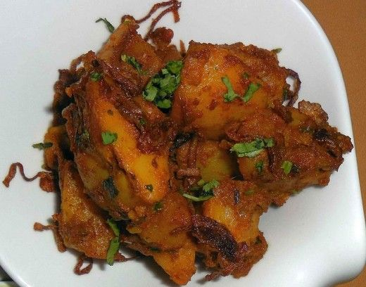 aloo dum a delicious bengali potato delicacy with images bbq pork ribs healthy chef on hebbar s kitchen recipes dum aloo id=68027