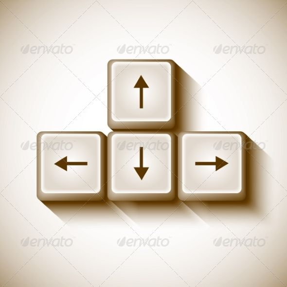 Vector Arrows Buttons Keyboard Arrow Font Logo And Fonts