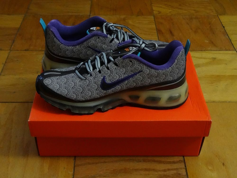 Nike Air Max 360 Supreme Size 9 New Box 315062 002 Silver Black ...