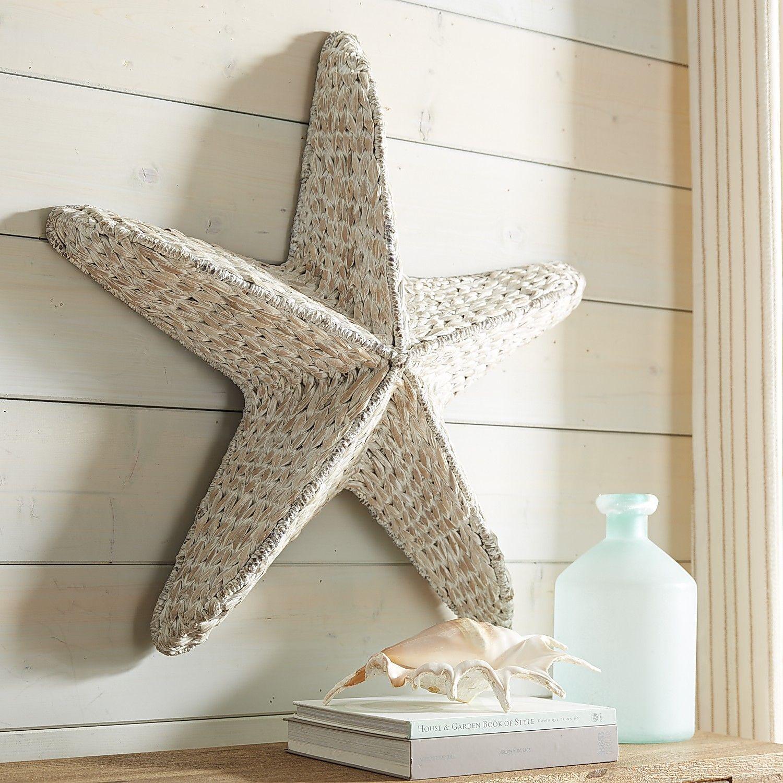 starfish seagrass wall decor white starfish wall decor on wall art decor id=85719