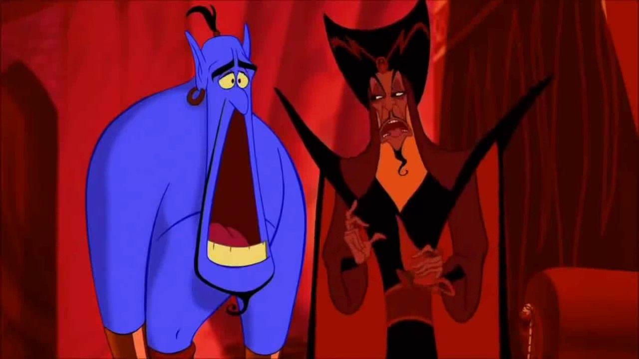 Aladdin Jasmine Kisses Jafar Disney Aladdin Aladdin 1992