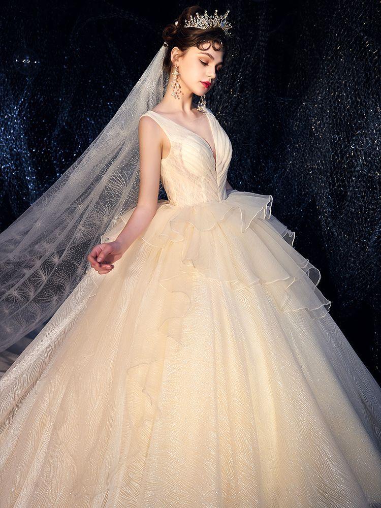 19+ White sparkle ball gown wedding dress information