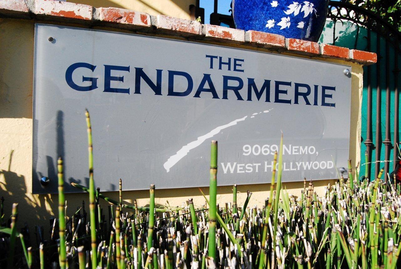 The Gendarmerie sign