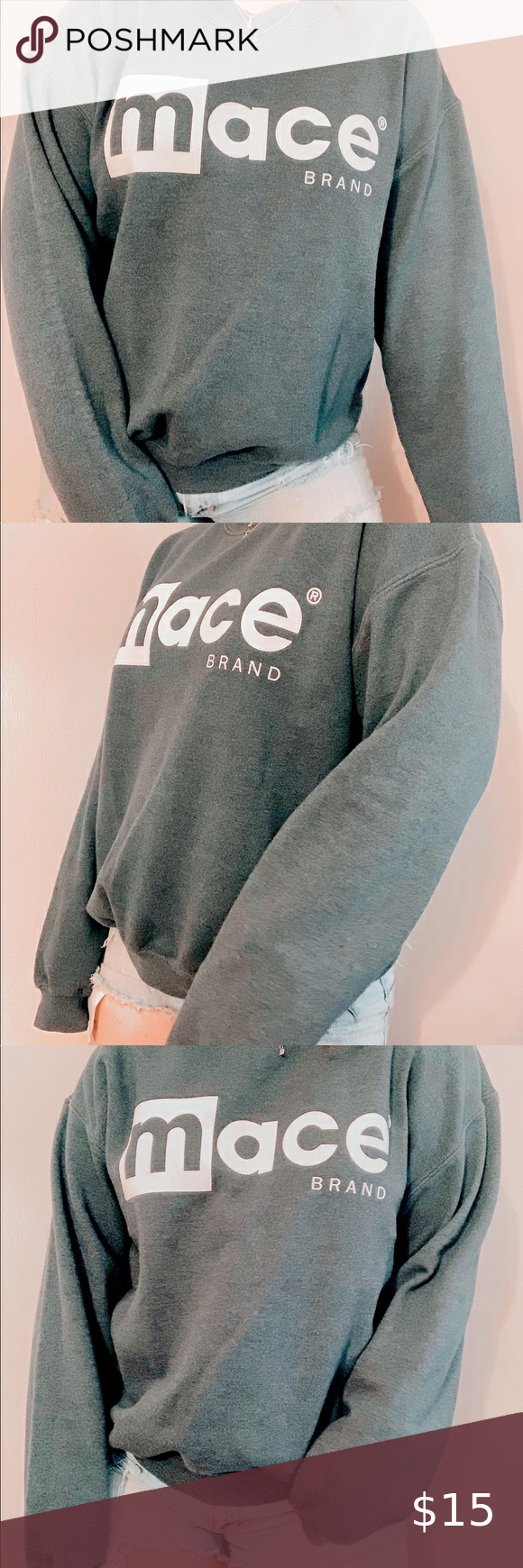 Mace Crewneck Sweatshirt Brand Gildan X Mace Size Medium Slightly Oversized Coloe Gray Swipe To End In 2020 Sweatshirts Crew Neck Sweatshirt Branded Sweatshirts [ 1740 x 580 Pixel ]