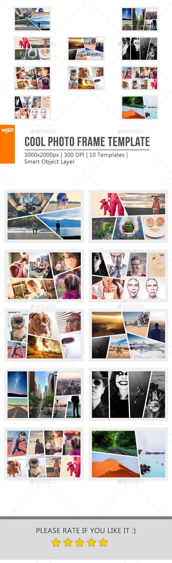Cool Photo Frame Template | Anuarios, Formato y Álbum