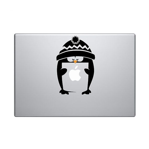 Penguin Vinyl Decal Sticker To Fit Macbook Pro - Custom vinyl decals macbook