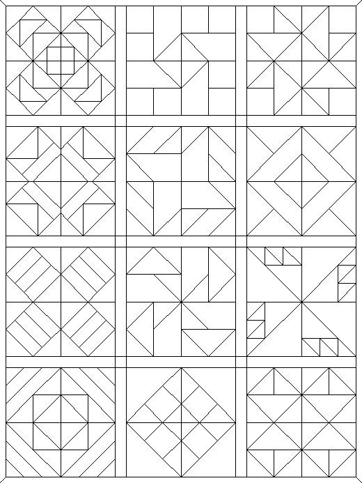 coloring pages quilt blocks 09 more - Quilt Block Coloring Pages