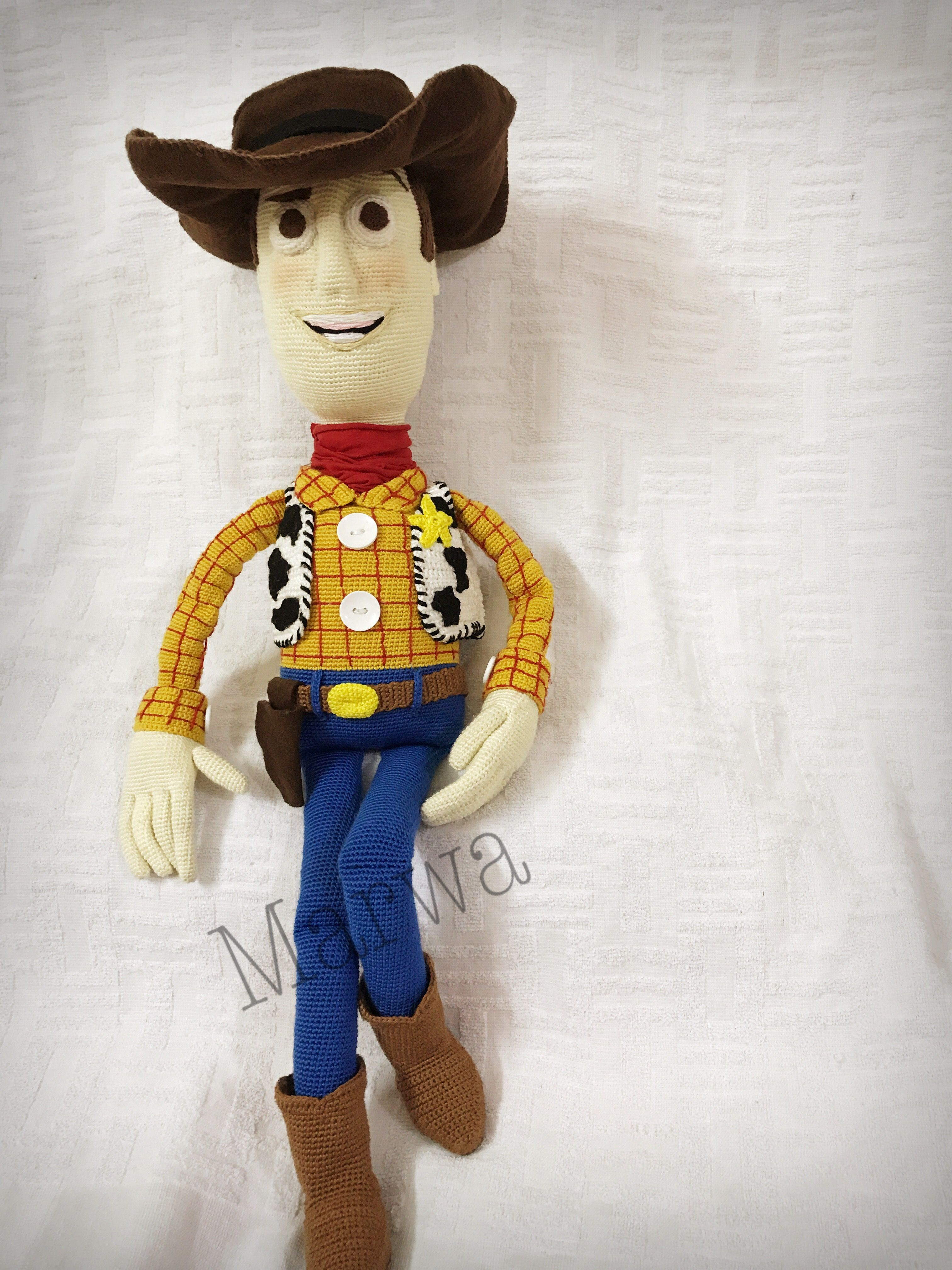 Pin by Marwa Tyseer on Woody toy story crochet   Woody toy ...