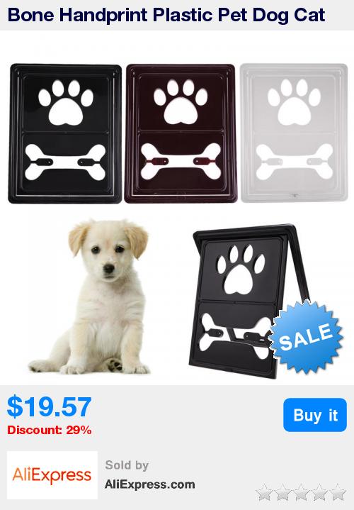 Bone Handprint Plastic Pet Dog Cat Door For Screen Window Gate