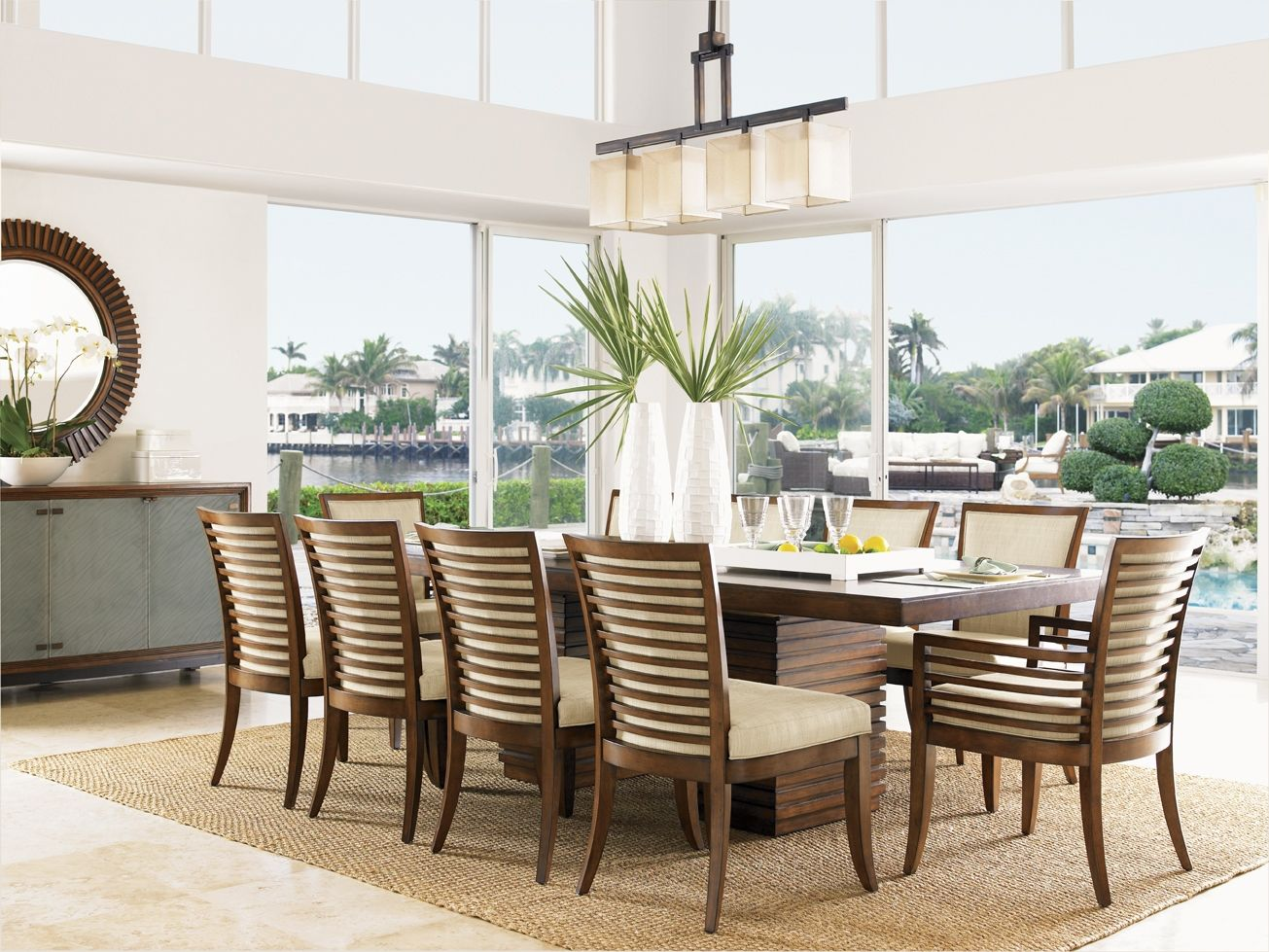 Tropical Dining Room Furniture Set  Httpenricbataller Impressive Tropical Dining Room Chairs Design Decoration