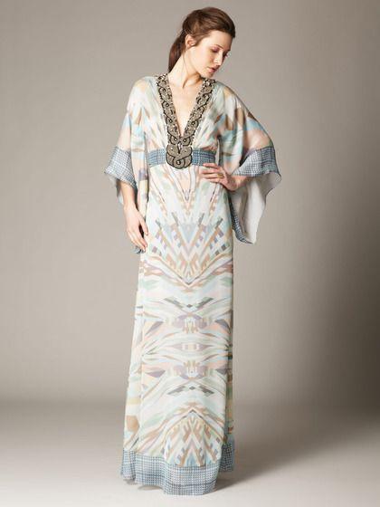 Silk Printed Kaftan Gown by Matthew Williamson on Gilt.com