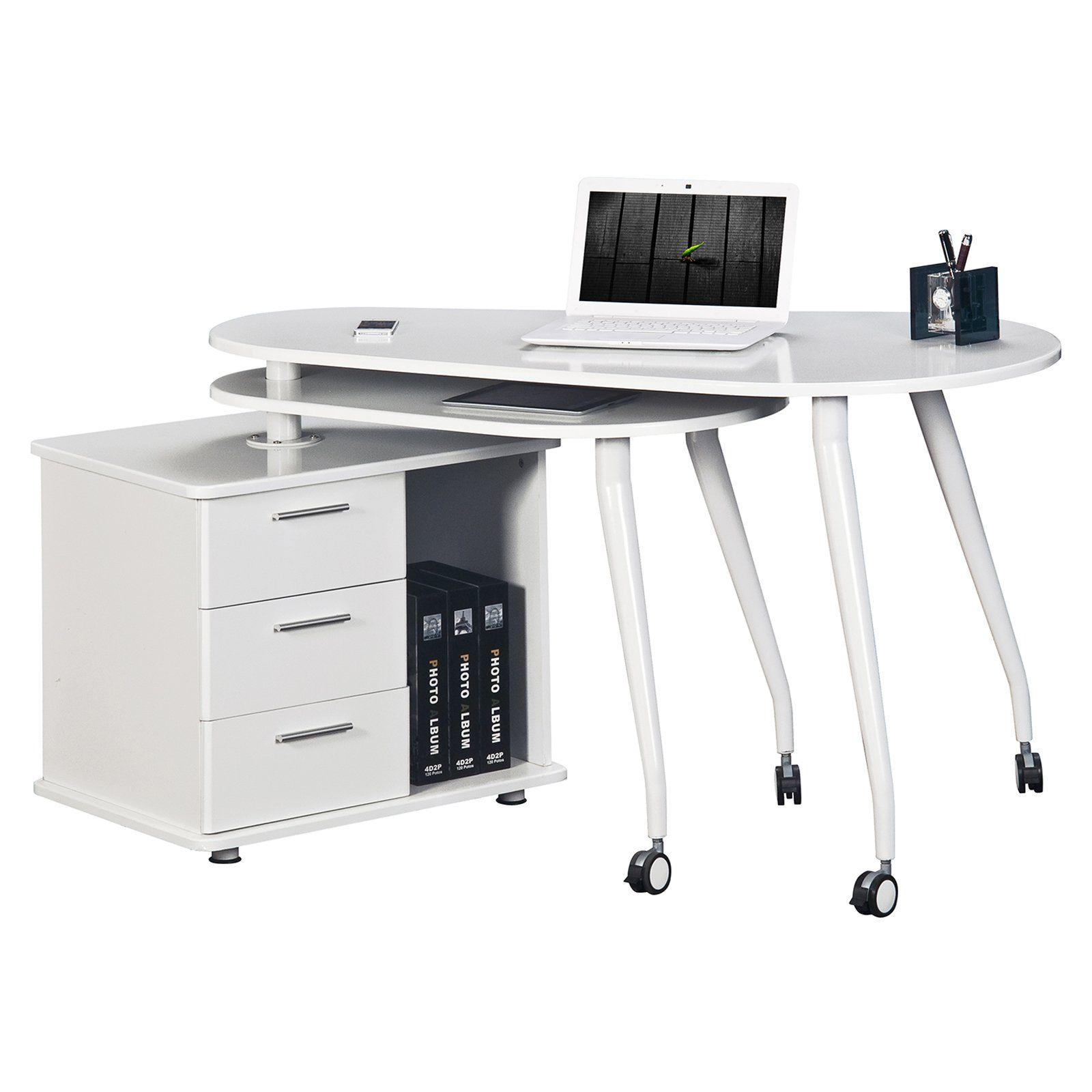 Pleasant Have To Have It Techni Mobili Rta 220Ab White Computer Desk Interior Design Ideas Clesiryabchikinfo