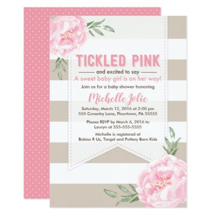 Pink And Brown Baby Shower Invitation Girl Card Pinterest Shower