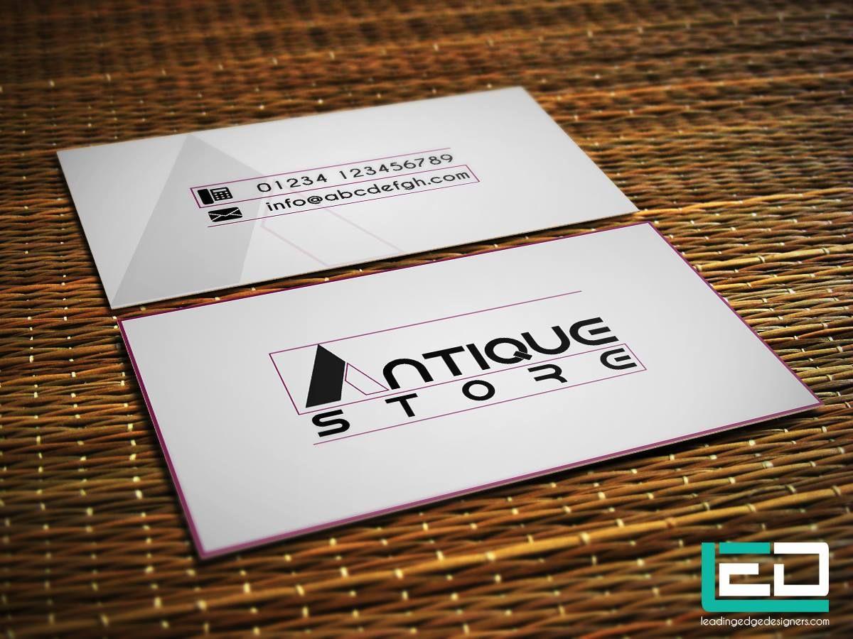 Logo Design In A Simple Card Logo Design Simple Card Antique Store Leadingedgedesigners Led L Custom Business Cards Business Card Design Web Design