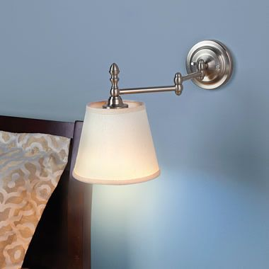 The Cordless Remote Control Bed Light Hammacher Schlemmer Bed Lights Light Led Wall Sconce