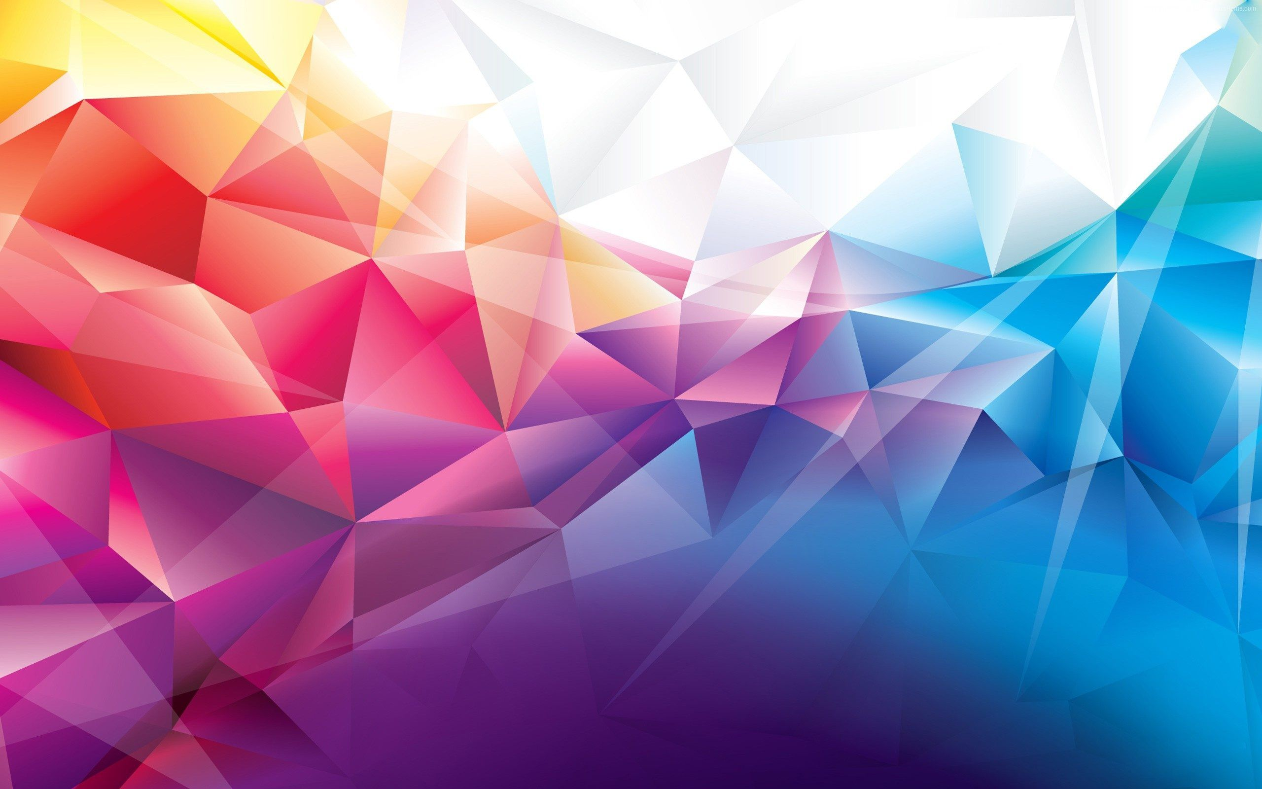 Polygon Shape Abstract Design Wallpaper Hd For Desktop Abstrak Seni Gambar