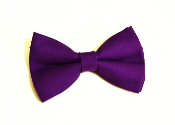 Plum Purple Bow Tie For by ElenaAndChris on Etsy