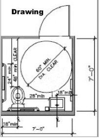 Image result for ADA bathroom stall   Ada bathroom, Round ...