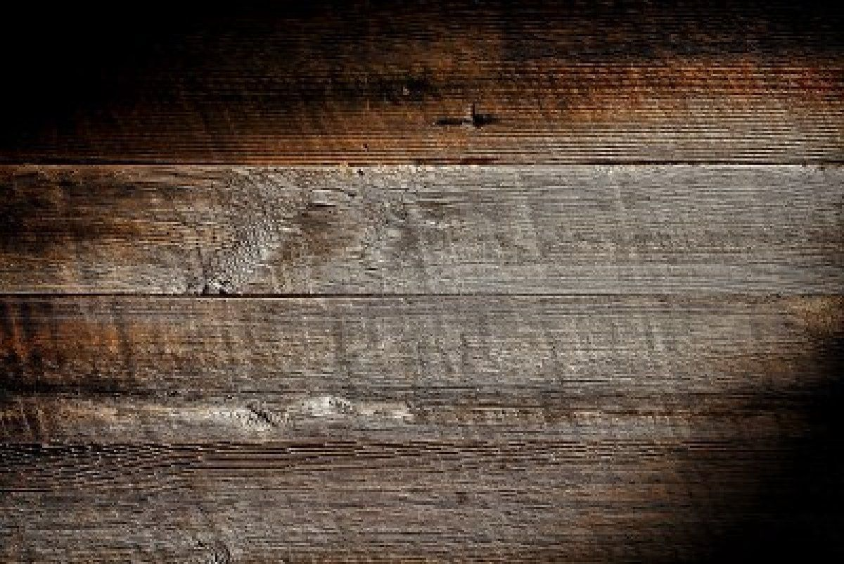 Old and distressed antique grey board made of rough sawn ...