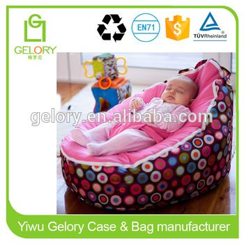 Sofa Baby Bean Bag Chair Cover Printed Microfiber Canvas Sleeping