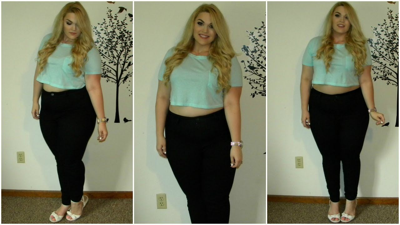 8cda07ccb21 The Curvy Diaries  Crop Top   High-Waisted Jeans Plus-Size OOTD - YouTube