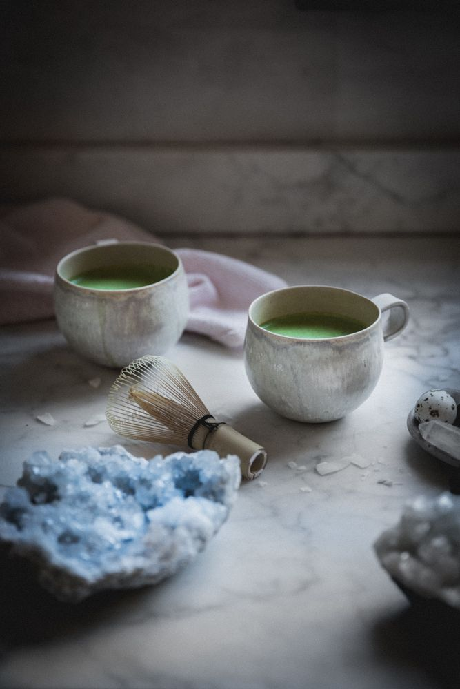 a quick & easy super healthy vegan coconut matcha latte recipe made with coconut milk, the perfect, creamy herbal morning potion that's as great iced as it is warm