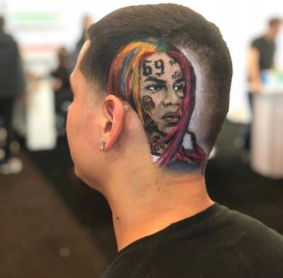 6ix9ine Haircut Atbge Pinterest Haircut Styles