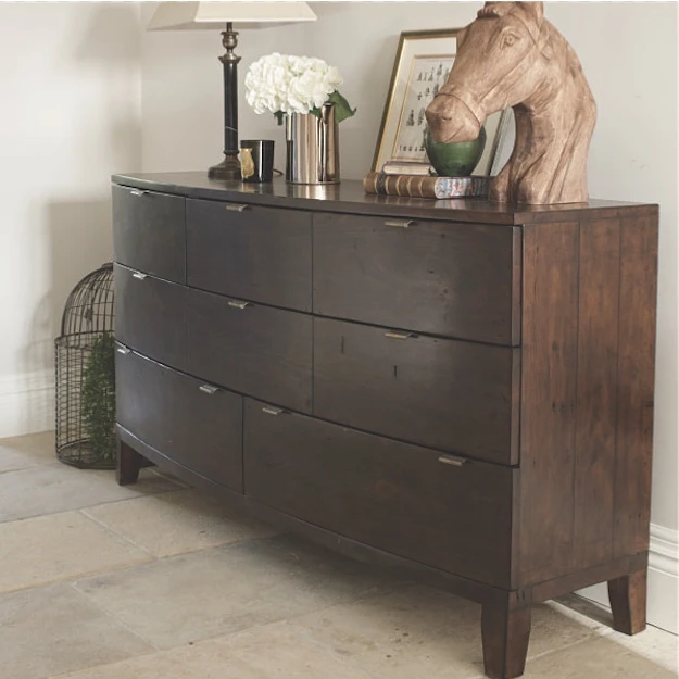 Winchester Dark Rustic Wooden Large Chest Of Drawers In 2020 Rustic Bedroom Furniture Large Chest Of Drawers Rustic Wooden Bed