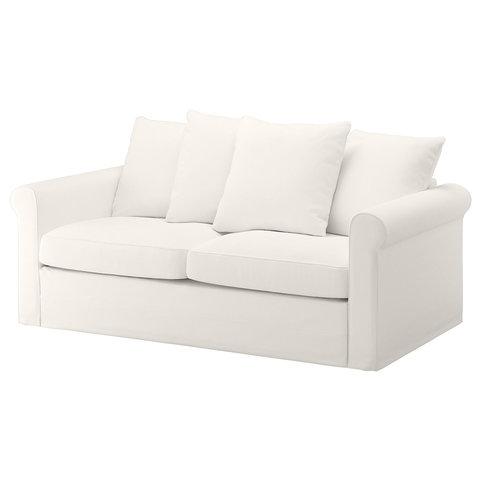 Gronlid Inseros White 2 Seat Sofa Bed Ikea In 2020 Sleeper Sofa Sofa Bed Sofa Back Cushions