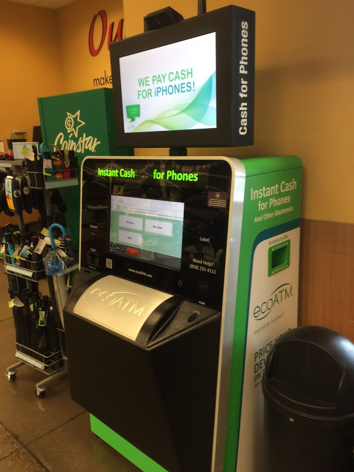 This ecoATM kiosk can be found at Fry's on 3100 N Glassford Hill