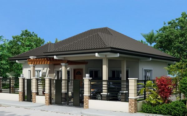 Single Story House Plan Floor Area 108 Square Meters Bungalow Style House Plans Modern Bungalow House Philippines House Design