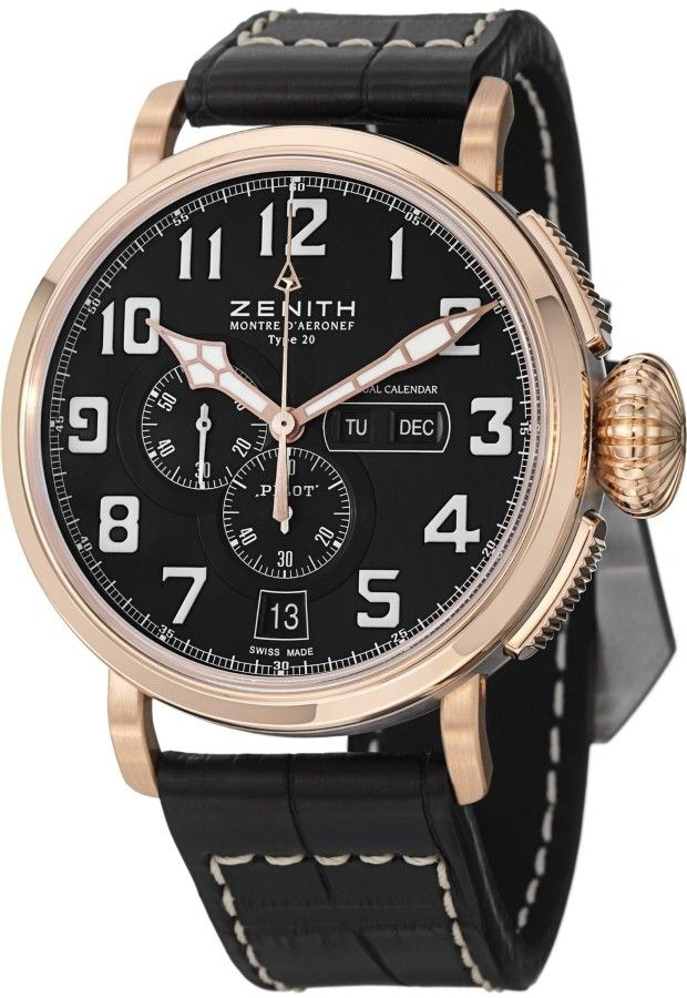men watches zenith pilot montre d aeronef type 20 annual calendar men watches zenith pilot montre d aeronef type 20 annual calendar men s rose gold automatic