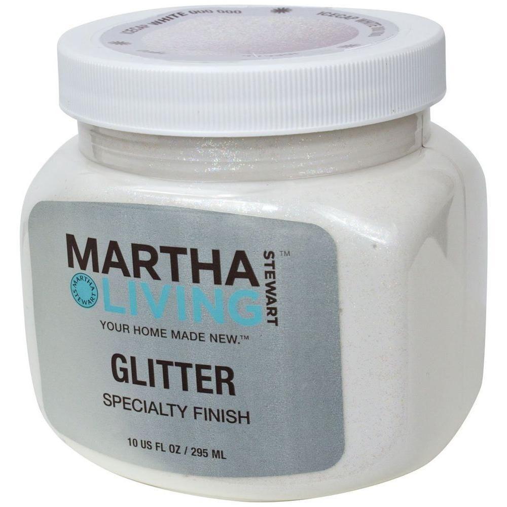 Get Martha Stewart Living Paint. 10 Oz. Icecap White Glitter Paint HD29 73